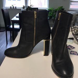 Leather Calvin Klein Booties